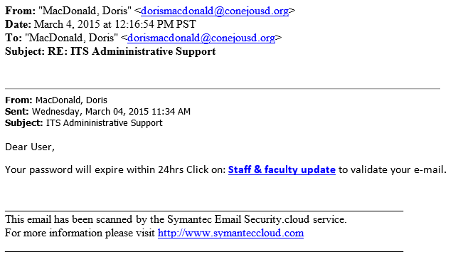 ITS Administrative Support phish 20150304-00